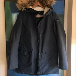 Helly Hansen parka with fur hood. Size small